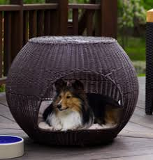 Dog bed furniture Hidden Outdoor Igloo Dog Bed Etsy Dog Furniture And Dog Beds From The Refined Canine Luxury Maker Of