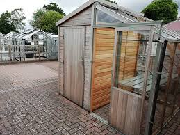 half shed and half greenhouse combo