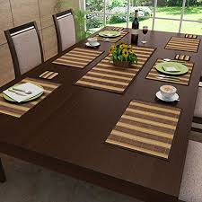 architecture dining room table placemats attractive com sicohome pack of 6 gold home kitchen