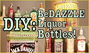 Decorative Liquor Bottles DIY BeDAZZLE Liquor Bottles YouTube 57