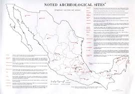 org mexican history from ancient times to today map of mexican archeological sites