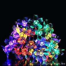 fairy solar lights led string outdoor flower blossom decoration wedding party garden nz