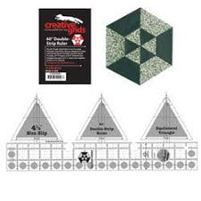 20 best creative grid ruler quilts images on Pinterest   Patterns ... & Creative Grids Ruler 60 Degree Double Strip Ruler Adamdwight.com