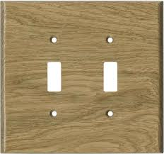 oak white unfinished switch plates covers 2 toggle