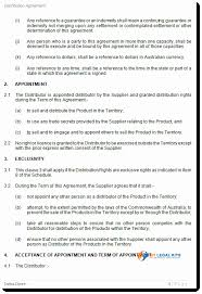 International Product Distribution Agreement Template Product