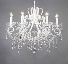 shabby chic white chandelier designs