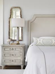 traditional master bedroom grey. Gray Headboard And Nightstand Traditional Master Bedroom Grey