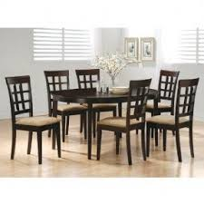 contemporary wooden dining furniture. coaster contemporary style dining chairs, cappuccino wood finish, set of 2 wooden furniture