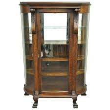 curved glass curio cabinets antique tiger oak bow front curved glasirror curio display china cabinet for antique rounded glass curio cabinet