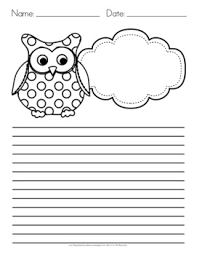 owl themed writing paper by flapjack educational resources owl themed writing paper