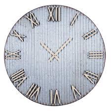 farmhouse corrugated wall clock