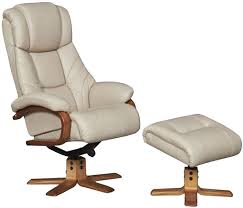 gfa cologne leather swivel recliner chair taupe cherry
