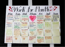 DIY Post-it Calendar
