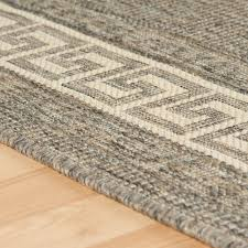 oriental weavers greek key flatweave anti slip rug runners grey
