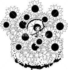 夏のイラスト ひまわり畑 イラスト素材 4126109 フォトライブ