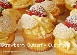 Strawberry Butterfly Cupcakes Recipe Thebakingpancom