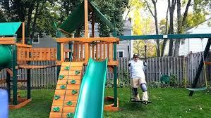 outdoor play set gorilla wooden playsets costco backyard