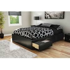 Axondirect Full Size Modern Platform Bed Frame With Storage Drawers In Black