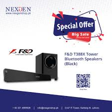 Nexgen Shop - F&D T388X Tower Bluetooth TV Soundbar Speaker🔉 The perfect  addition to your home entertainment system, Equipped with a subwoofer that  offers you the perfect level of bass and enhanced