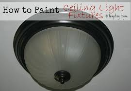 how to paint ceiling fixture tempting thyme