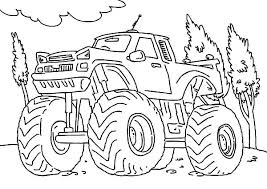 Monster Truck Coloring Pages Free Printable Monster Truck Color Page