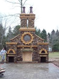 outdoor rumford fireplace with oven