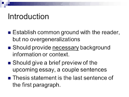 the parts of an essay your guide to writing strong academic essays introduction establish common ground the reader but no overgeneralizations should provide necessary background information