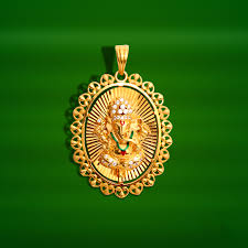 gold ganesh pendant from grt