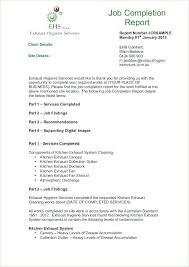 Job Completion Certificate Letter Sample Report Work Com Format