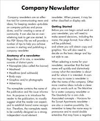 sample company newsletter company newsletter 7 premium and free pdf download apartment
