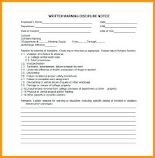 Employee Warning Letters Template Warning Letter Template For Absenteeism Verbal Written Warning