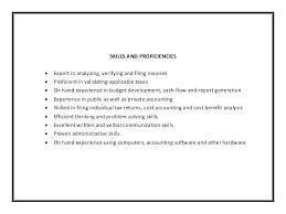 accountant resume skills sample accounting resume skills skills resume  samples junior accountant resume skills