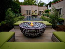 Fire Pit, Unusual Fire Pits Design Ideas Decorative Stainless Steel Bowl  White Stone Slate Clear