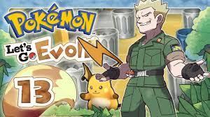 POKEMON LET'S GO EVOLI ? #13: Gegen den blitzenden Amerikaner & Ex-Soldat  Major Bob! - YouTube