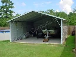 boxed eave carport with both sides closed