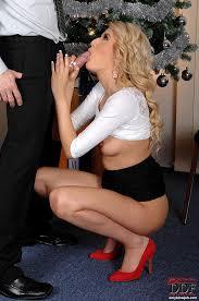 Mini dress high heels blow job