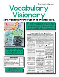 Microsoft Word Vocabulary Vocabulary Visionary Menu Of Activities Digital Google Resource