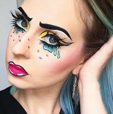 history cartoon pop art makeup tutorial dare makeup 2017 ic makeup
