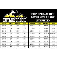 Vortex Scope Cover Size Chart Correct Butler Creek Scope Cover Chart Nikon Scopes