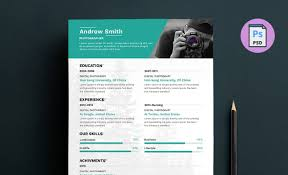 Photographer Resume Template Printable Worksheet Page For Educations