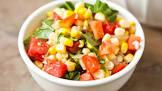 basil and corn salad