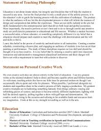 work philosophy example teaching philosophy statement examples best template collection