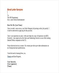 sample email for job application 9 sample email application letters free premium templates