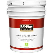 Ultra Pure White Flat Zero VOC Interior Paint and Primer in One-105001 -  The Home Depot