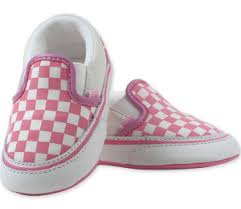 vans infant shoes. vans classic slip-on pink and white chex infant shoes 2