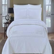 white cotton duvet cover king. Exellent White Hotel White Medallion Embroidered Egyptian Cotton Duvet Cover Set And King V