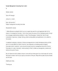 It Consultant Cover Letter Sample Management Consulting Cover Letter
