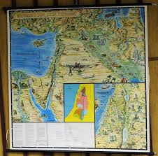 Vintage Pull Down Wall Chart Old Testament 12 Tribes Of Israel
