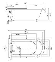 clawfoot tub dimensions. View Specification Sheet Clawfoot Tub Dimensions U