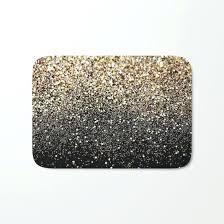 black bathroom mats black and gold bath mat doubtful sparkle by glam decor home design ideas
